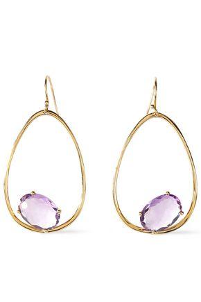 IPPOLITA Rock Candy 18-karat gold amethyst earrings