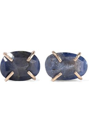 MELISSA JOY MANNING 14-karat gold blue sapphire earrings