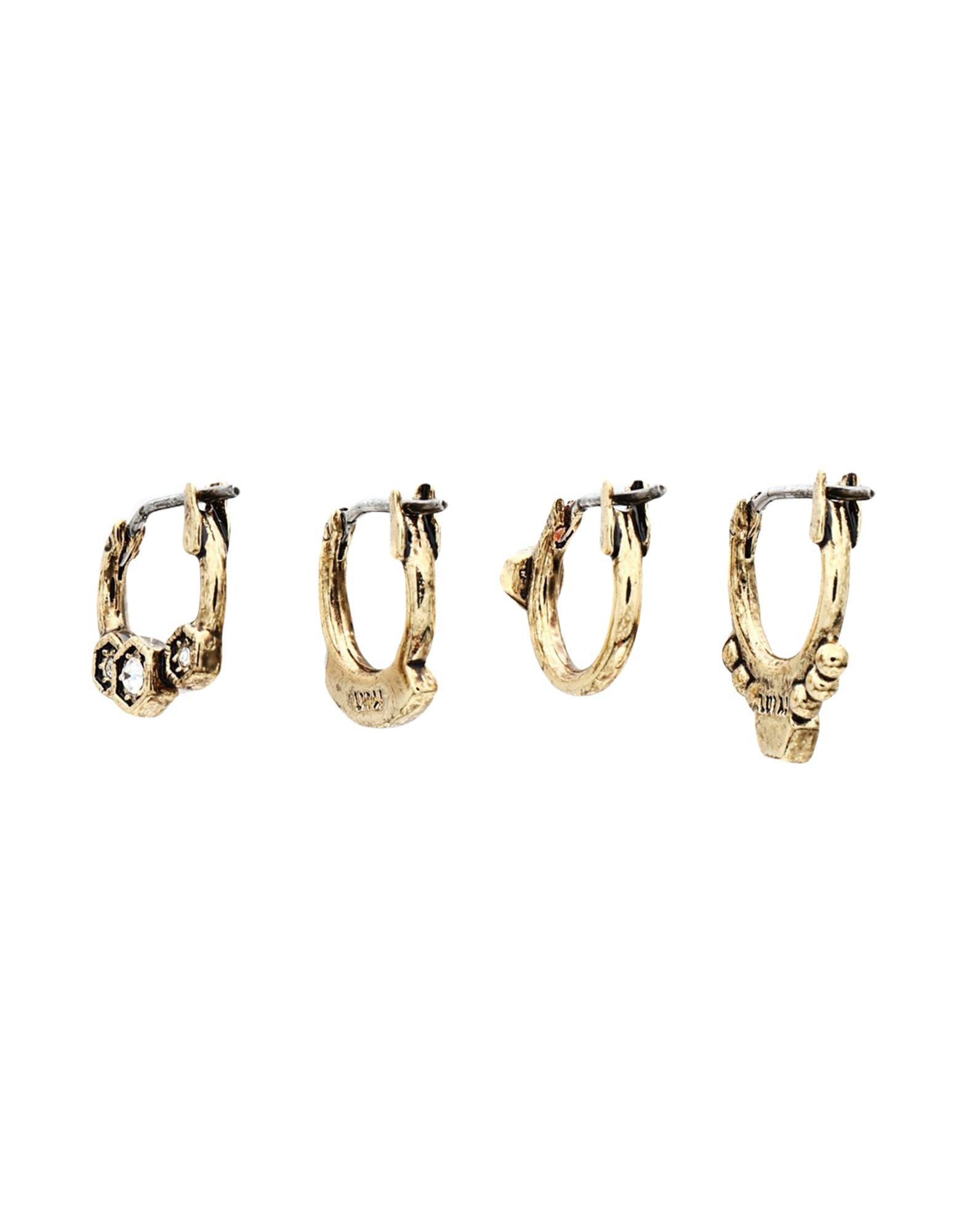 《セール開催中》LUV AJ レディース イヤリング ゴールド 真鍮/ブラス / スワロフスキー FULL BLOOM HOOP SET