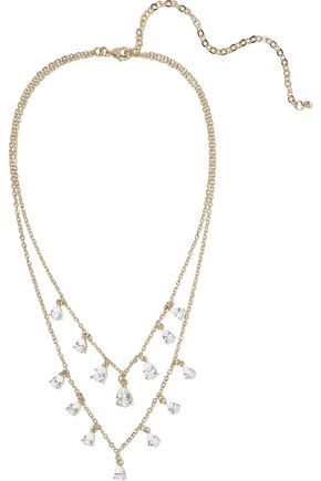 CZ by KENNETH JAY LANE 14-karat gold-plated crystal necklace