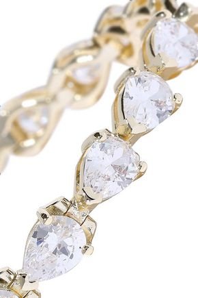 CZ by KENNETH JAY LANE Gold-plated crystal bracelet