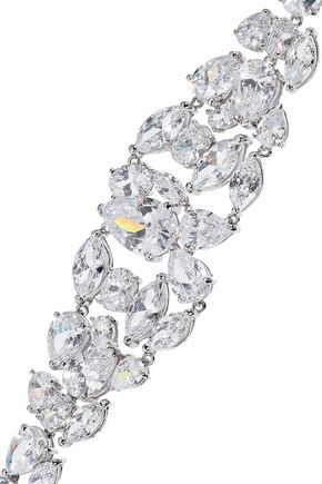 CZ by KENNETH JAY LANE Rhodium-plated crystal bracelet
