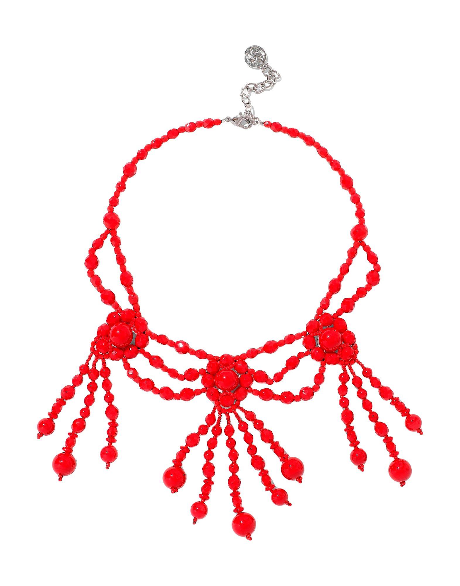 《セール開催中》BEN-AMUN レディース ネックレス レッド 紡績繊維