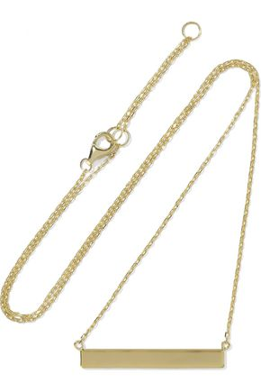 IRIS & INK Eleanora 18-karat gold-plated sterling silver necklace