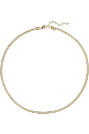 IRIS & INK Frederica 18-karat gold-plated sterling silver necklace