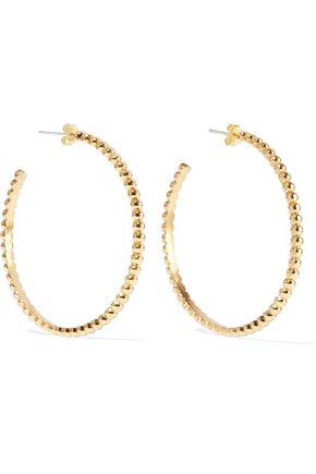 IRIS & INK Maud 18-karat gold-plated sterling silver hoop earrings