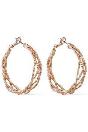 KENNETH JAY LANE Gold-tone hoop earrings