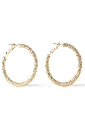 KENNETH JAY LANE Gold-plated hoop earrings