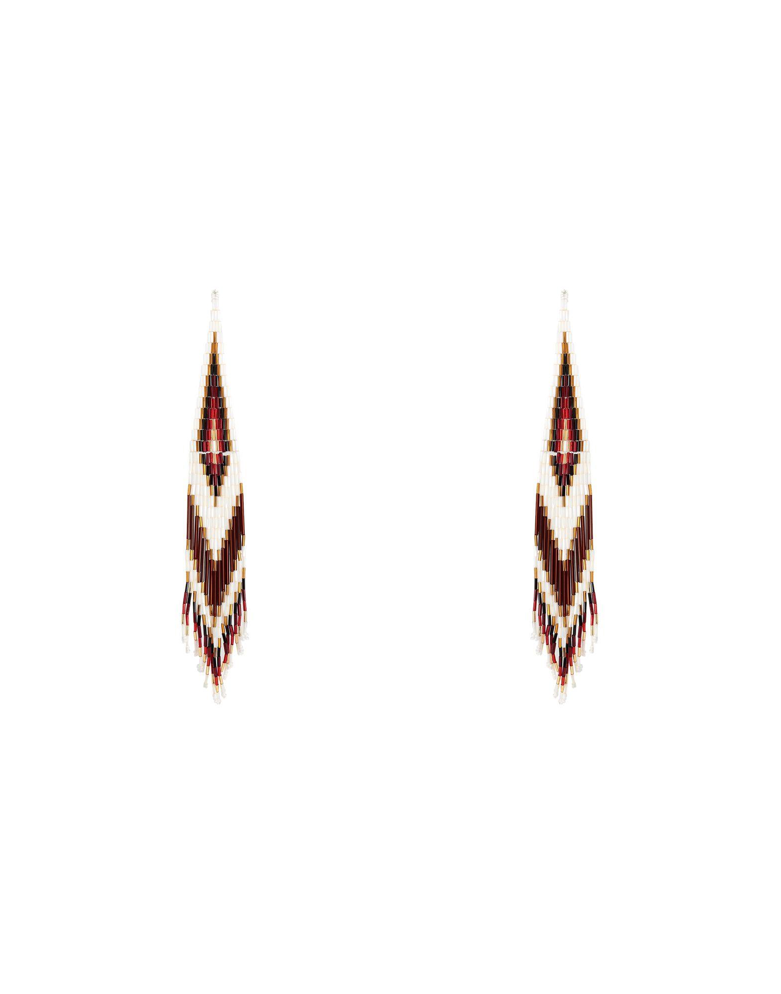 《セール開催中》JESSIE WESTERN レディース イヤリング ホワイト ガラス 98% / 銀 2% LONG BEADED