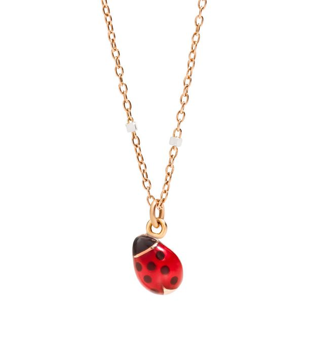 Necklace with ladybird charm