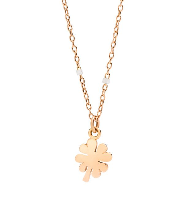 Necklace with four-leaf clover charm