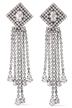 CHRISTOPHER KANE Gunmetal-tone crystal earrings