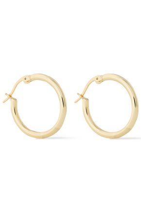 IRIS & INK Sophia 18-karat gold-plated sterling silver hoop earrings