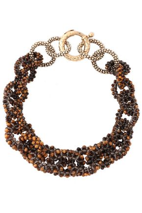 ROSANTICA Carrarmato gold-tone and quartz necklace