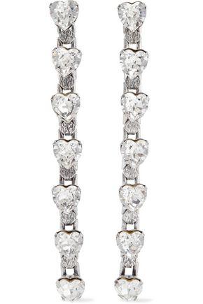 DANNIJO Odette oxidized silver-plated crystal earrings