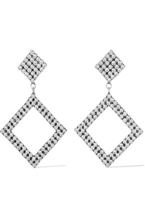 DANNIJO Beta oxidized silver-plated crystal earrings