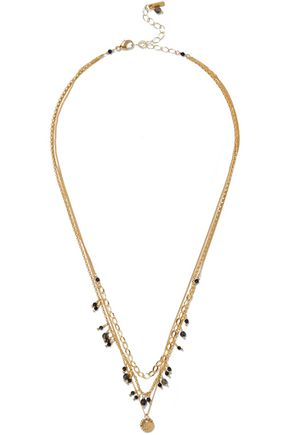 CHAN LUU Gold-tone stone necklace