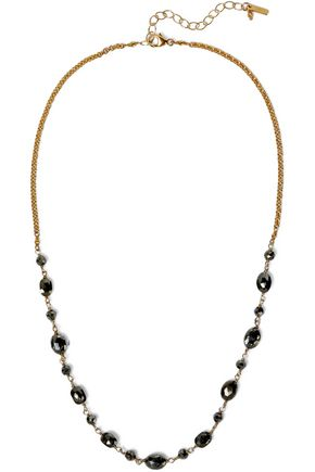 CHAN LUU Gold-tone pyrite necklace