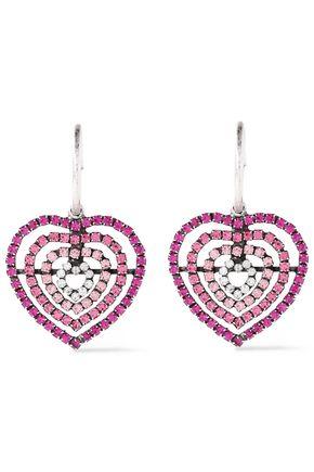 DANNIJO Silver-plated crystal earrings