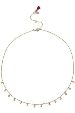 SHASHI Sonia 18-karat gold vermeil crystal necklace