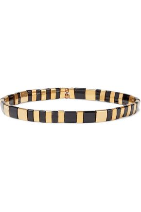 SHASHI Tilu 18-karat gold-plated beaded bracelet