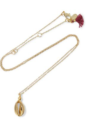 SHASHI Baltic gold-plated necklace