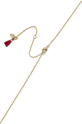 Shashi SHASHI WOMAN CELESTINE 18-KARAT GOLD-PLATED CRYSTAL NECKLACE GOLD