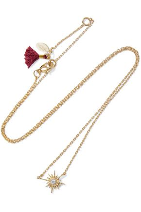 Celestine 18 Karat Gold Plated Crystal Necklace by Shashi