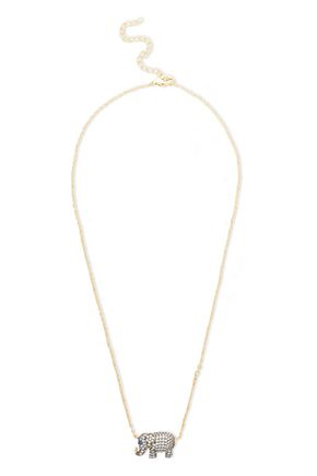 CZ by KENNETH JAY LANE Gold-tone and rhodium-plated crystal necklace