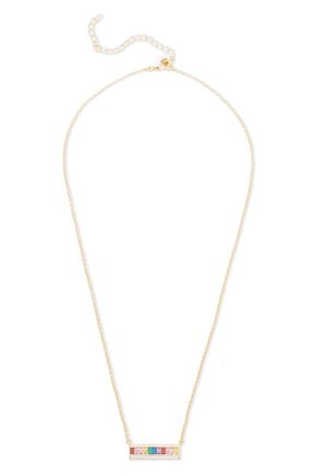 CZ by KENNETH JAY LANE Gold-tone crystal necklace