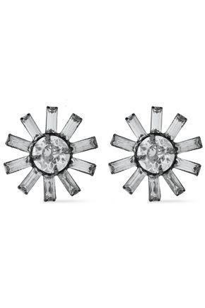 ELIZABETH COLE The Clarabelle gunmetal-tone Swarovski crystal earrings