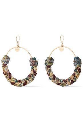MISSONI Gold-tone and metallic cord earrings