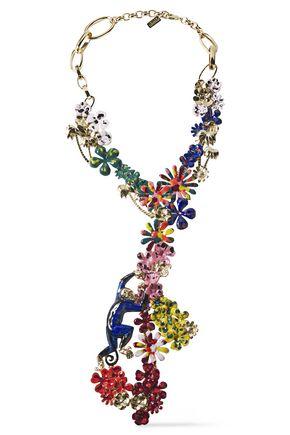 MISSONI Gold-tone enamel necklace