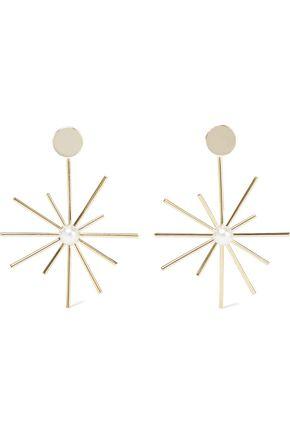 IRIS & INK Shelba 18-karat gold-plated faux pearl earrings