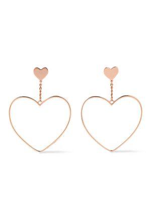 KENNETH JAY LANE Rose gold-plated earrings