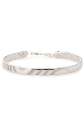 KENNETH JAY LANE Silver-tone choker