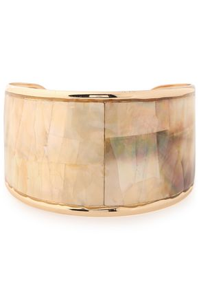 KENNETH JAY LANE Gold-plated faux mother-of-pearl cuff