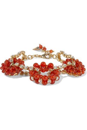 ROSANTICA Courmayeur gold-tone, bead and crystal bracelet