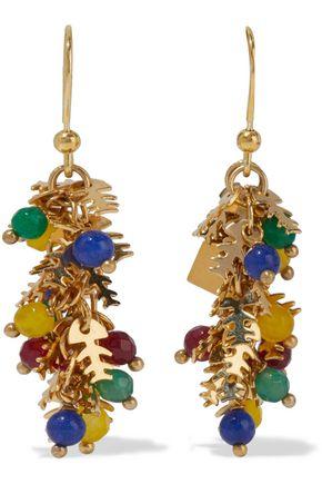 ROSANTICA Corvara gold-tone quartz earrings