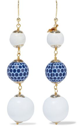 ROSANTICA Crans gold-tone beaded earrings