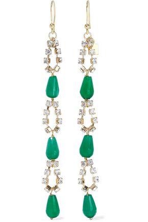 ROSANTICA Cervinia gold-tone, crystal and quartz earrings