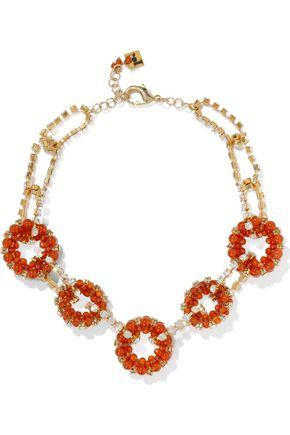 ROSANTICA Courmayeur gold-tone, quartz and crystal necklace
