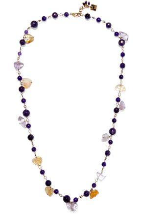 ROSANTICA Verbier gold-tone quartz necklace