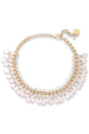 ROSANTICA Verbier gold-tone quartz necklace