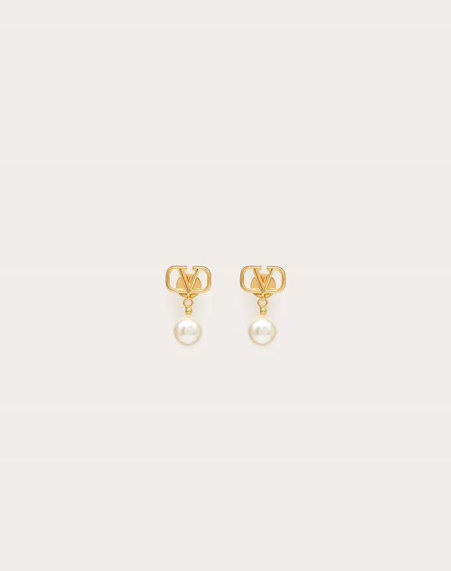VLOGO earrings with pearls