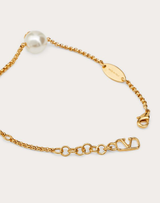 VLOGO bracelet with pearls