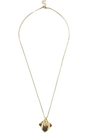 IRIS & INK Velma 18-karat gold-plated necklace