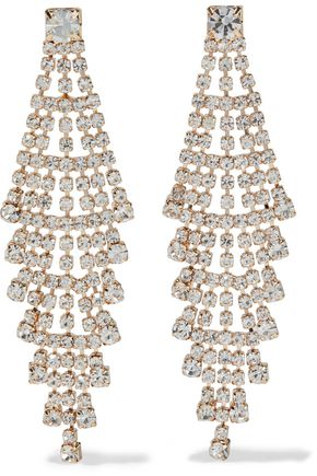 KENNETH JAY LANE Gold-plated crystal earrings