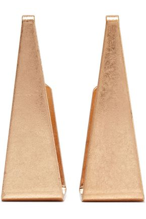 KENNETH JAY LANE Burnished gold-plated earrings