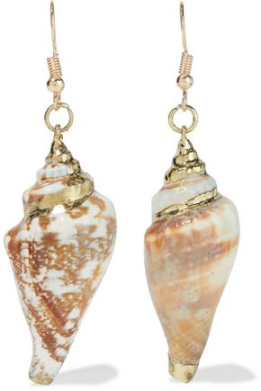 KENNETH JAY LANE Gold-plated faux shell earrings